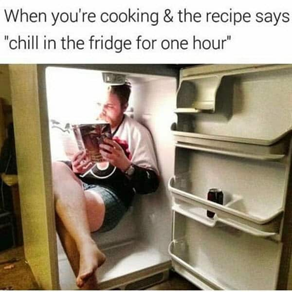 really funny when youre cooking memes