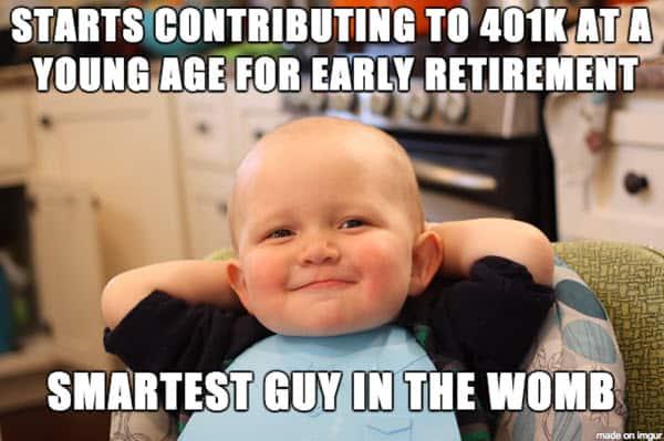 retirement early meme