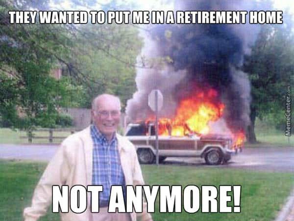 retirement home meme