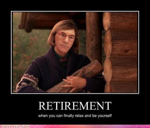 retirement meaning meme