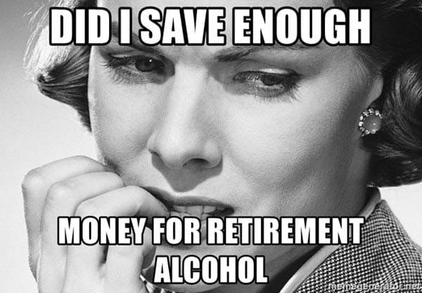 retirement money meme