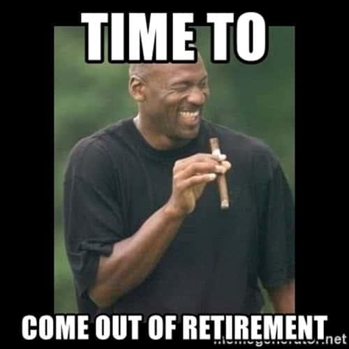 retirement time meme