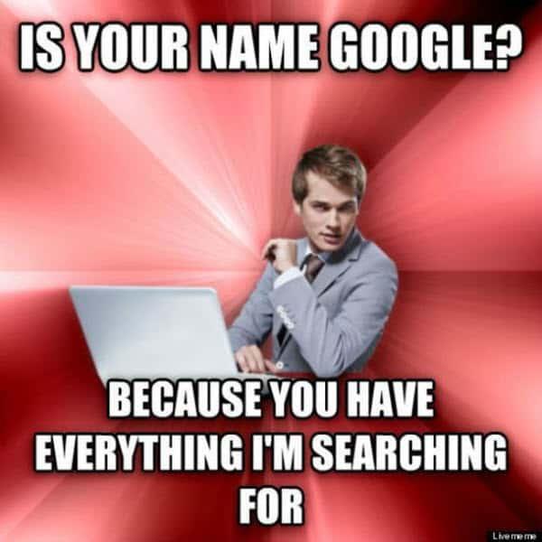 romantic name google memes