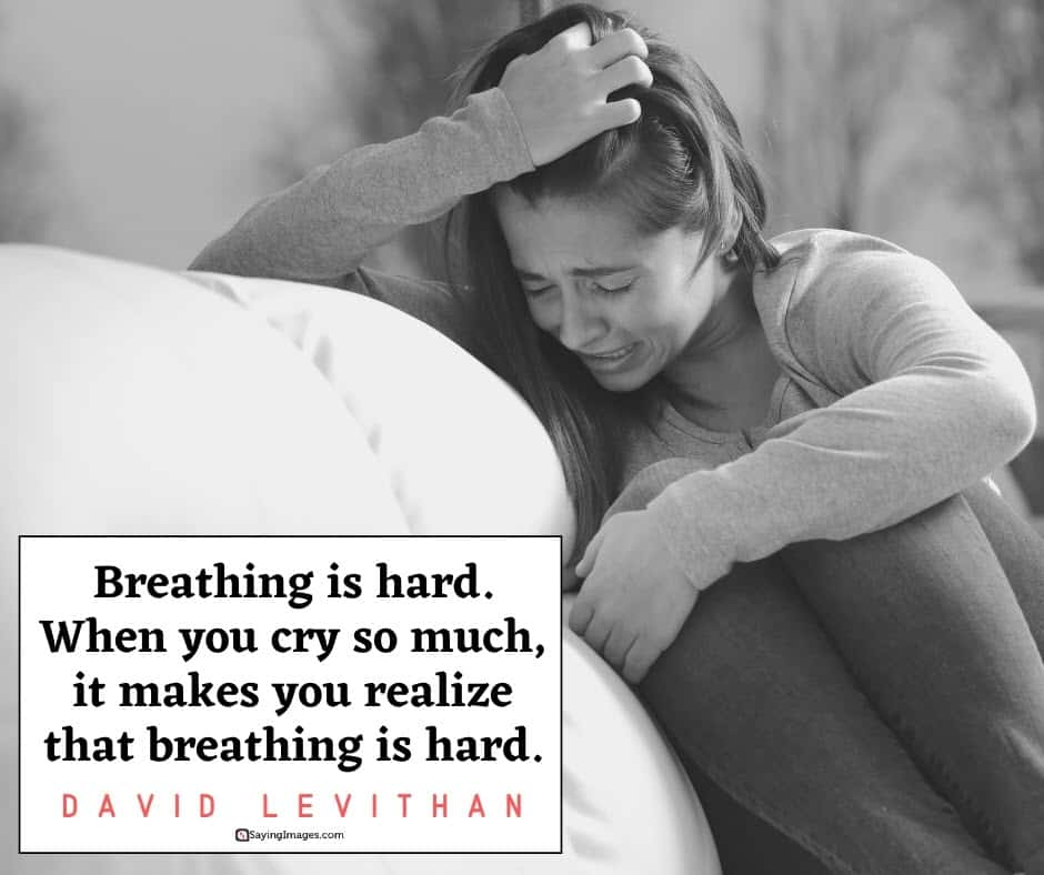 sad breathing quotes
