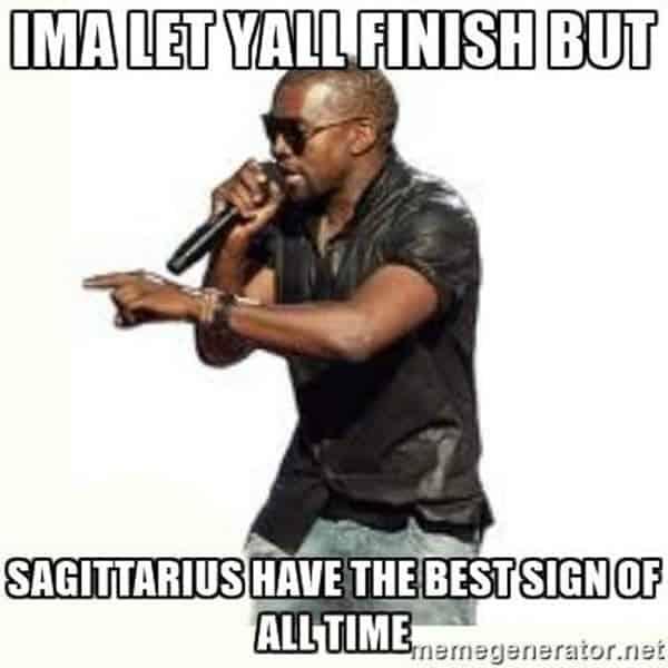 sagittarius best sign of all time meme