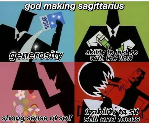 sagittarius god making meme