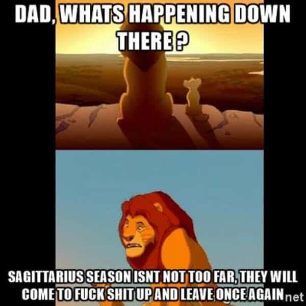 sagittarius whats happening meme