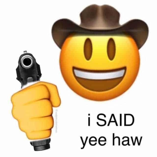 said yeehaw meme