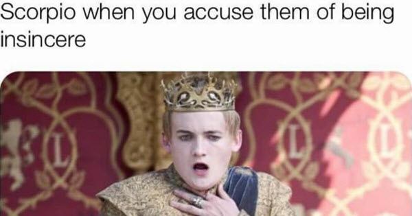 scorpio insincere memes
