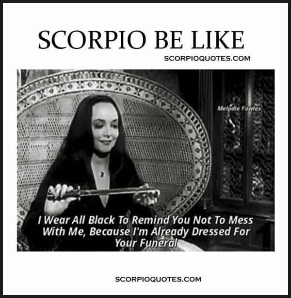 scorpio wear all black memes