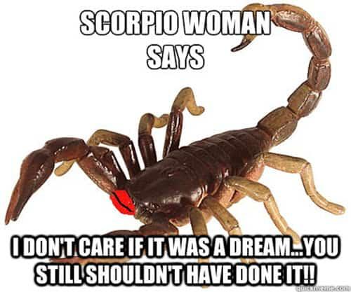 scorpio woman memes