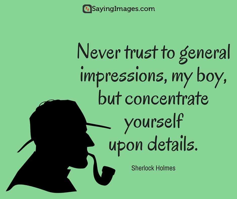 Sherlock Holmes Book Quotes