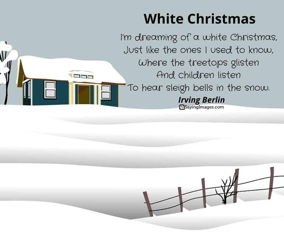 short christmas poems white christmas