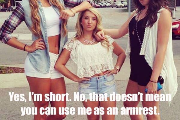 short girl armrest memes