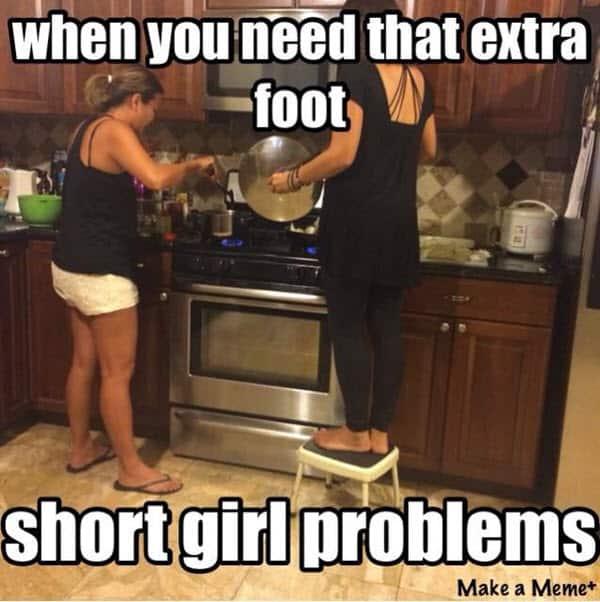 short girl extra foot memes