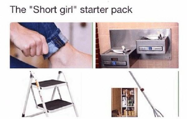 short girl starter pack memes