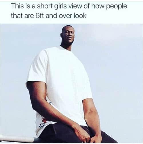 short girl view memes