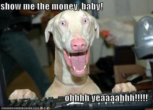 show me the money baby meme