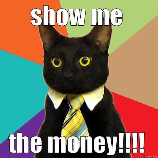 show me the money businesscat meme