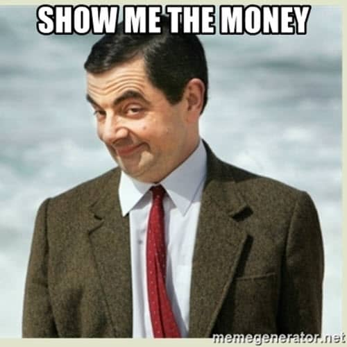 show me the money mr bean meme