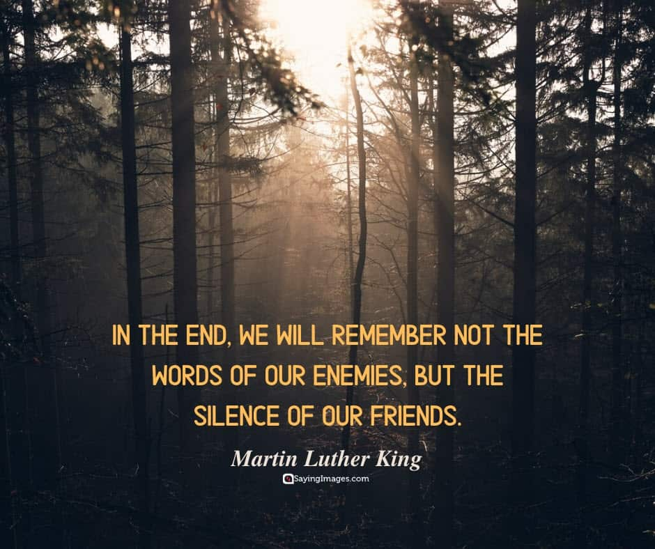 silence friends quotes