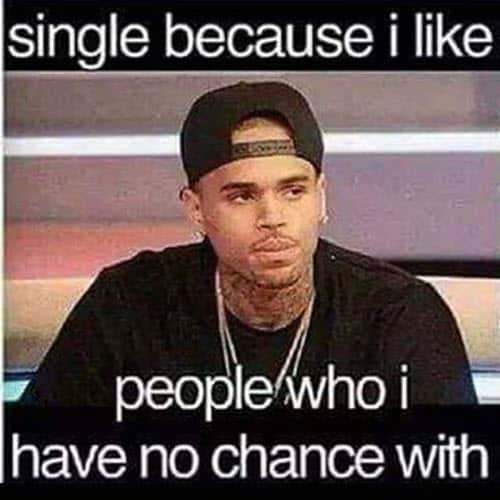 single because i like people meme