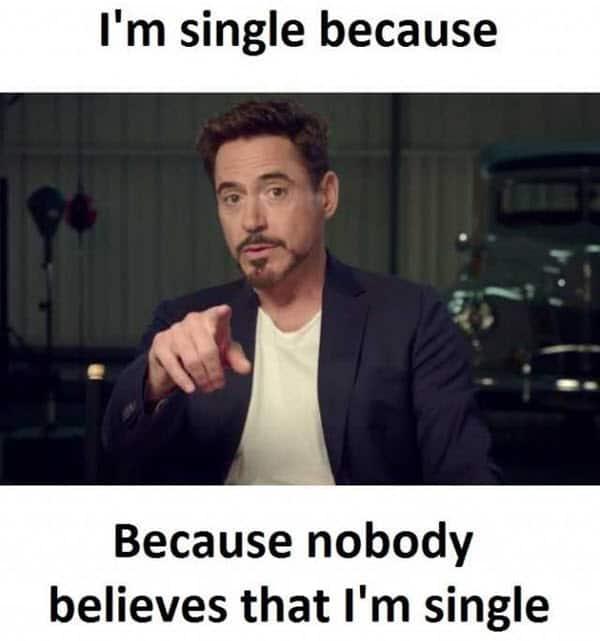 single because meme