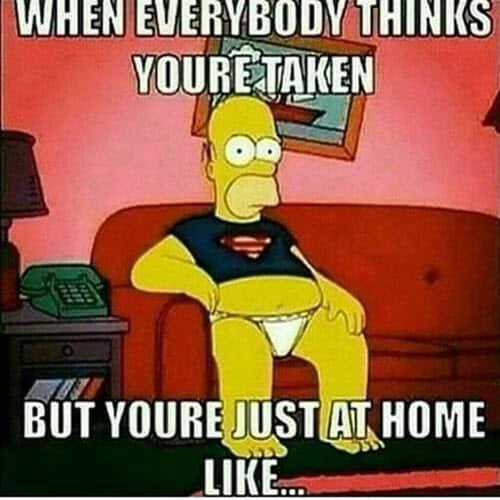 single everybody thinks meme