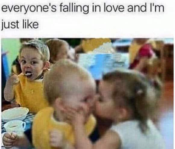 single everyone falling in love meme