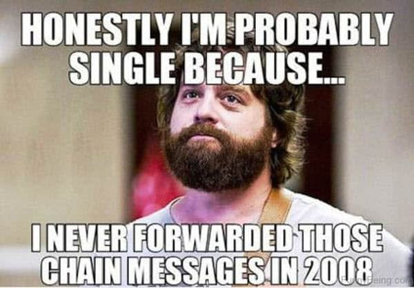 single honestly meme