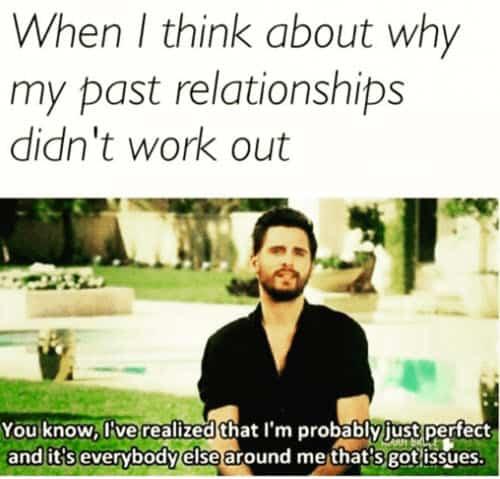 single past relationships meme