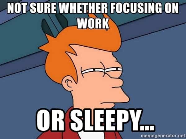 sleepy at work meme