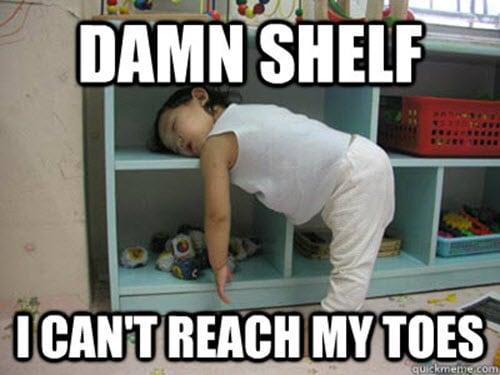 sleepy damn shelf meme