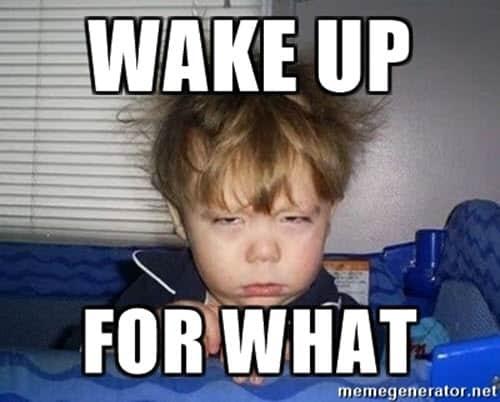sleepy wake up meme