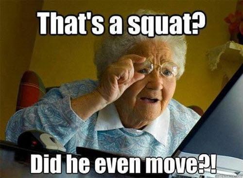 squat grandma meme