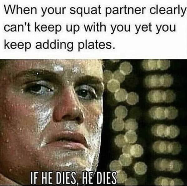 squat partner meme