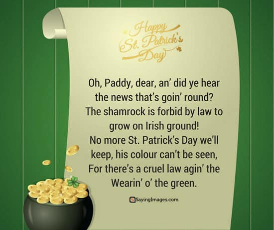 st patrick day quotes poems
