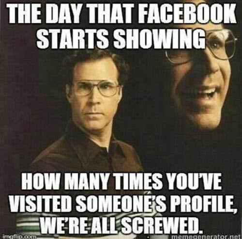 stalking facebook starts showing meme