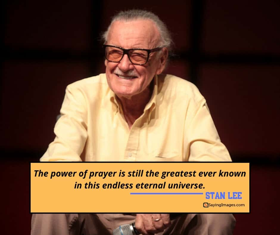 stan lee prayer quotes