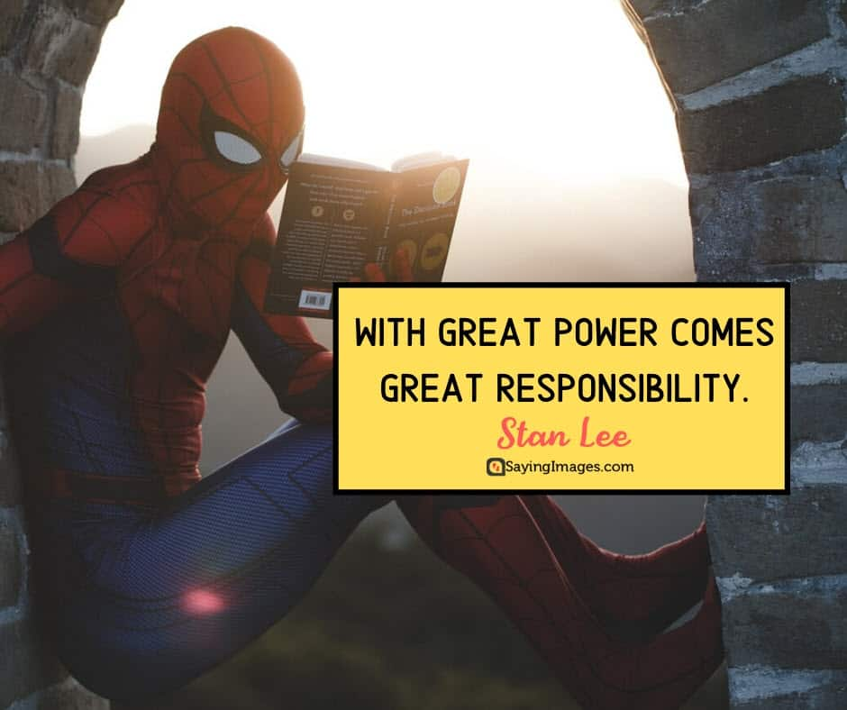 stan lee responsibility quotes