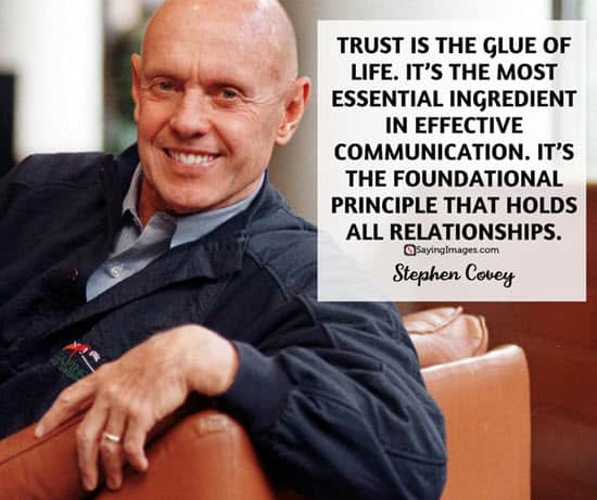 stephen covey trust quotes