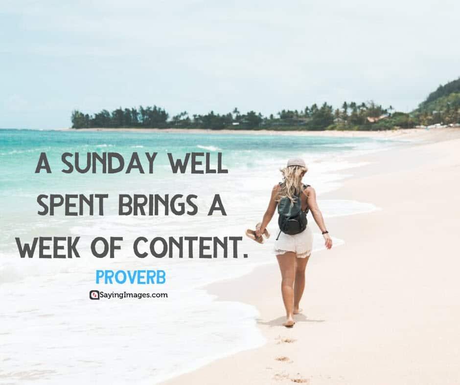 sunday content quotes