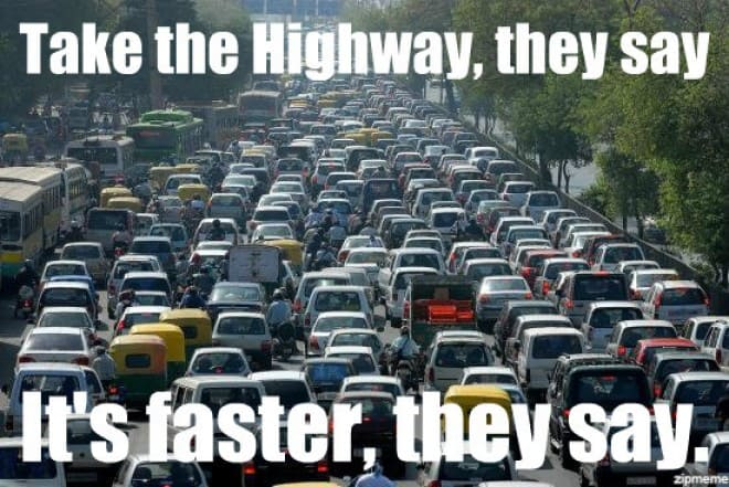 take-the-highway-traffic-meme
