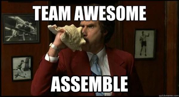 team awesome meme