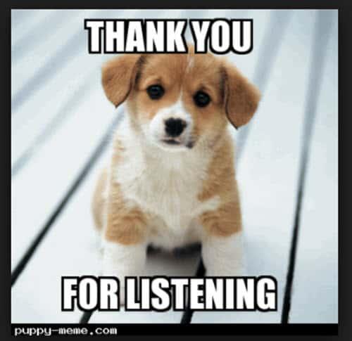 thank you listening memes