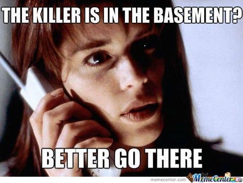 20 Creepy Horror Movie Memes Sayingimagescom