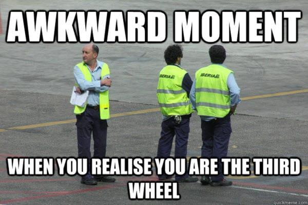 third wheel awkward moment meme