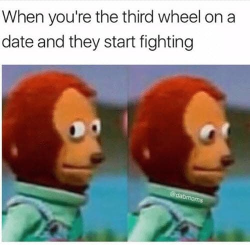 third wheel on a date meme