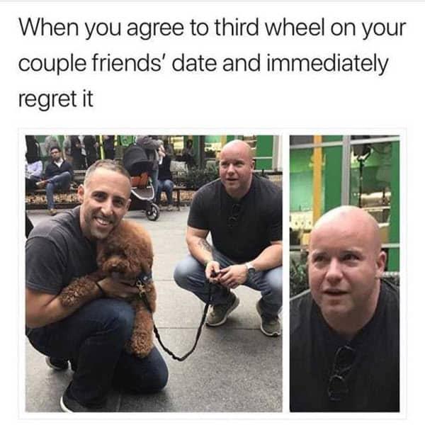 third wheel when you agree meme