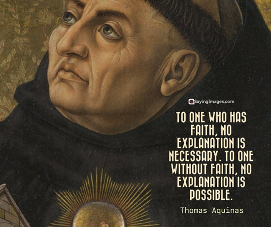 thomas aquinas faith quotes